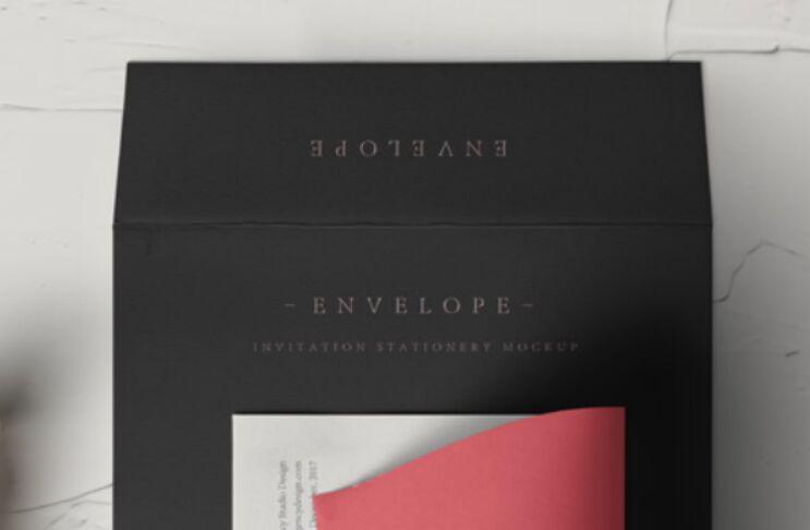 Invitation Envelope Mockup PSD