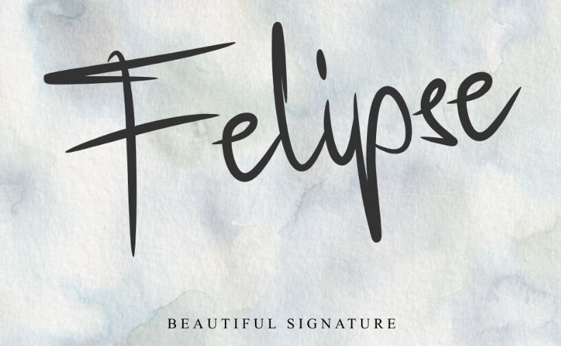 Felipse Beautiful Signature Font