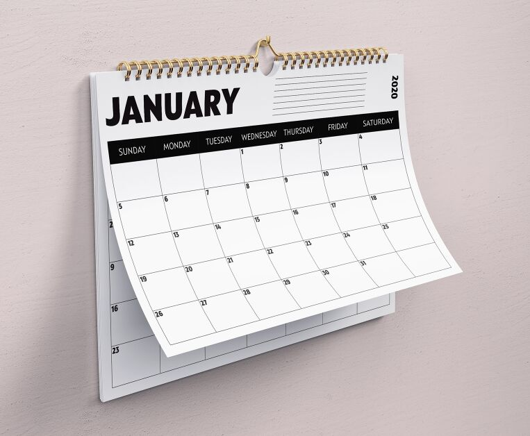 2020 Minimal Calendar