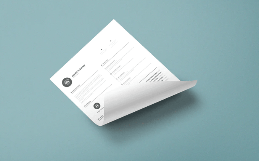 Curled A4 Paper Mock-up