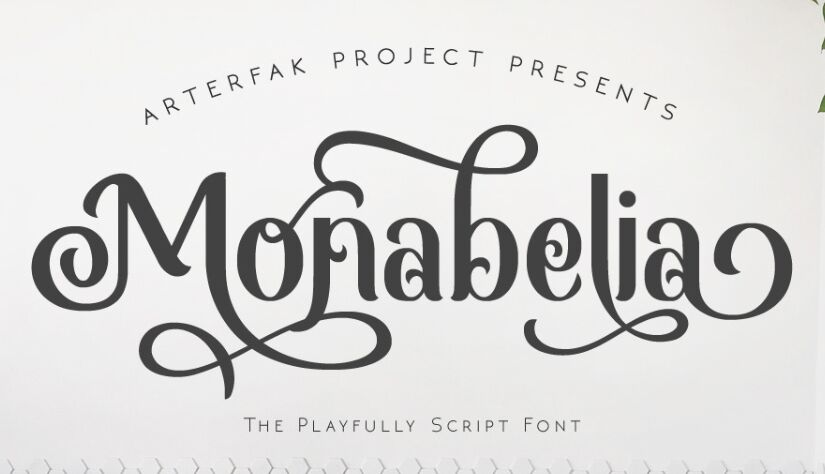 Monabelia Script Font