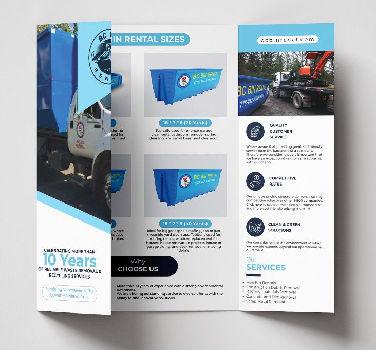 Professional gate fold brochure template