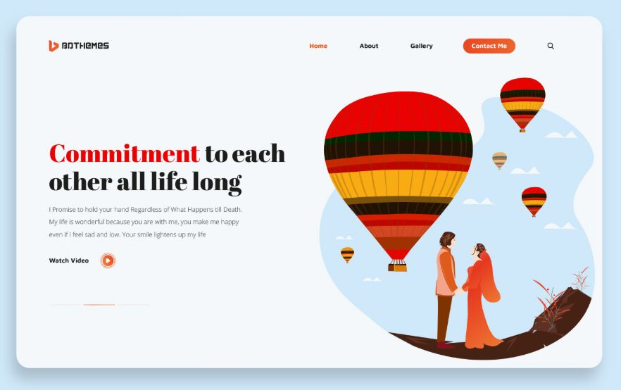 Commitment Marriage Landing Page