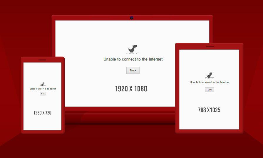 Responsive Web Browser PSD Mockup