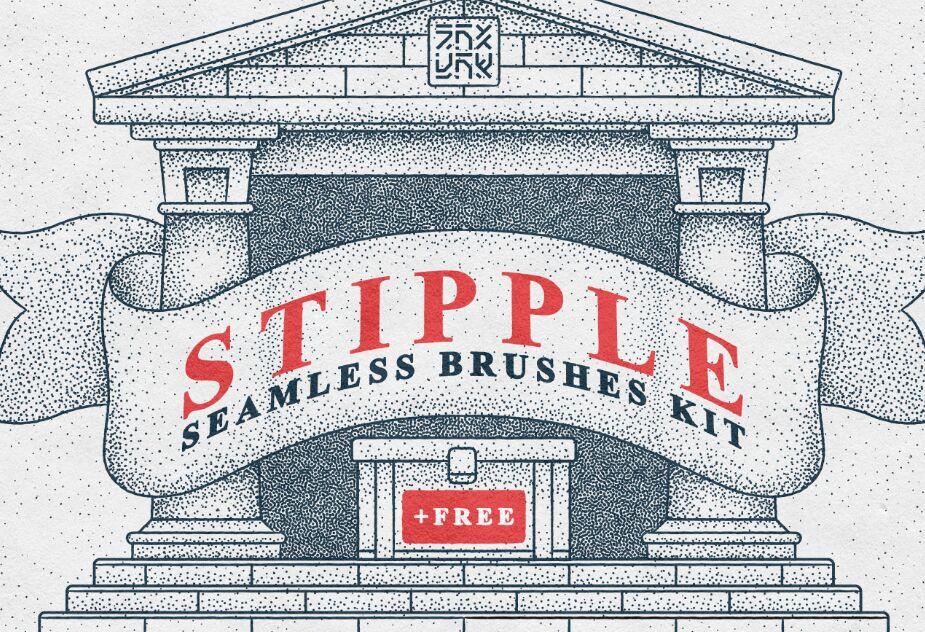 4 Stipple Brushes