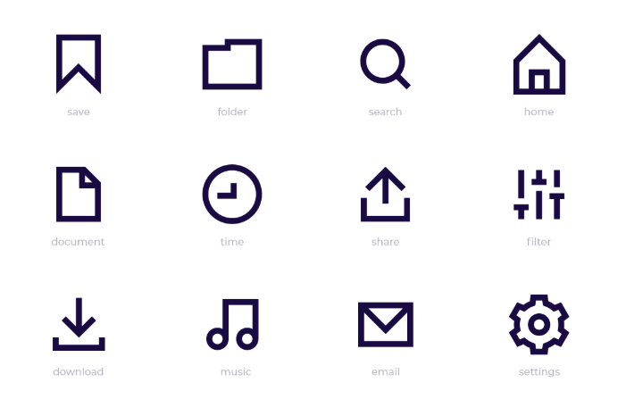 12 Simple UI SVG Icons