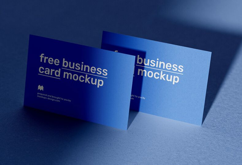 Business Cards With Shadow Mockup