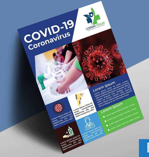 COVID-19 Coronavirus Flyer Free Template