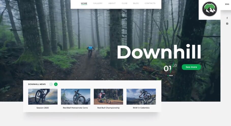Downhill Biking PSD Template