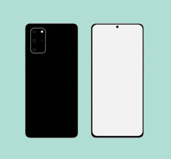 Flat Samsung Galaxy S20 Mockup