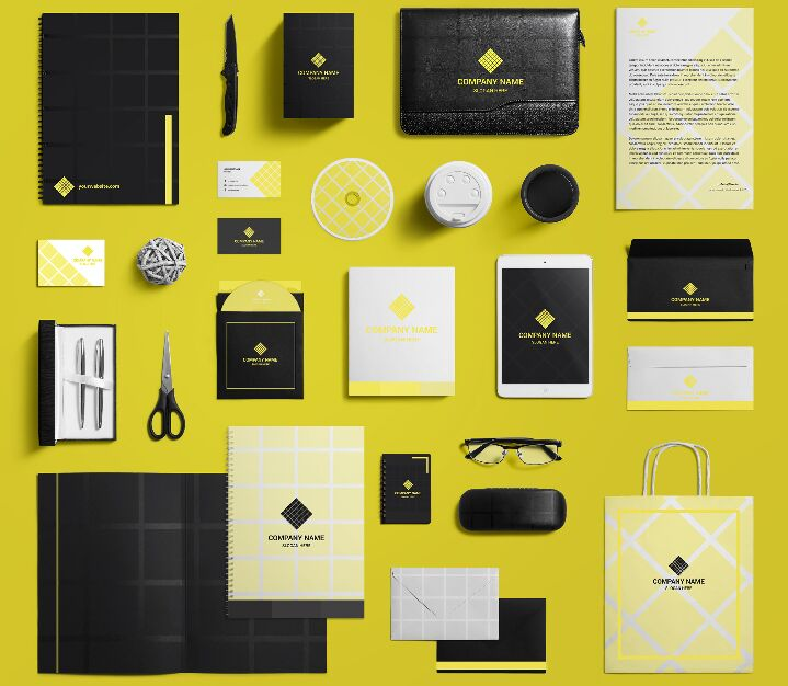 Stationary Design Template Vector