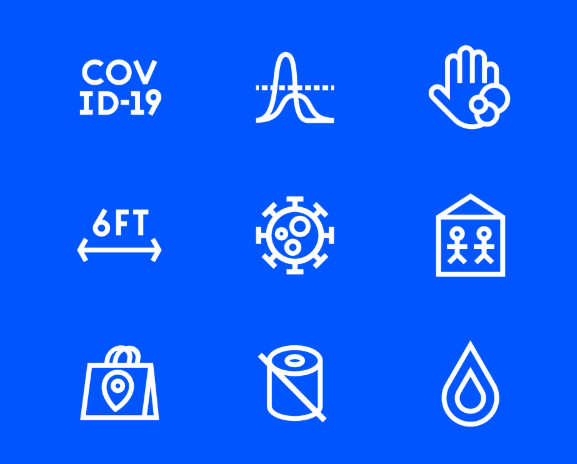 COVID-19 Themed Icons