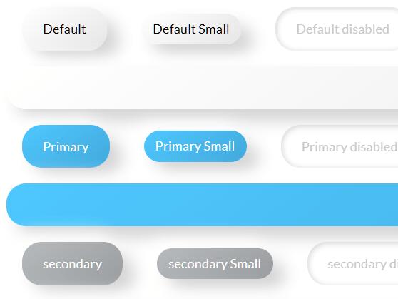 CSS Only Neumorphic UI Framework Based On Bootstrap – NenmorphismCSS