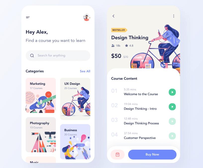 Course App Design For Figma