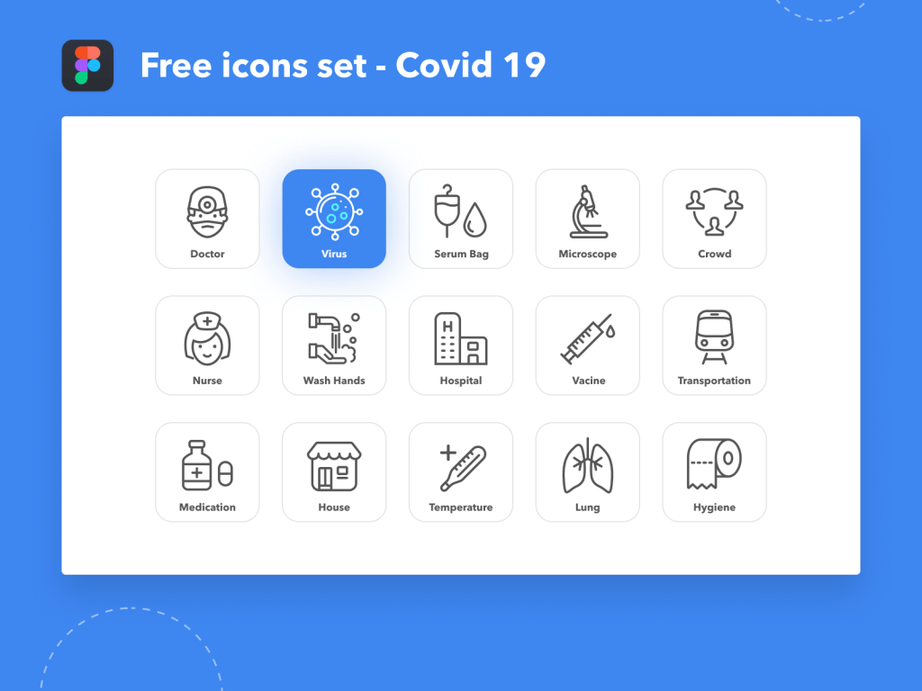 Covid 19 Icon Set