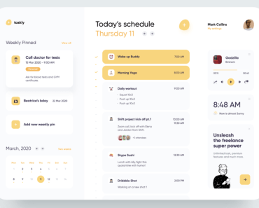 Freelancer Schedule Web Template
