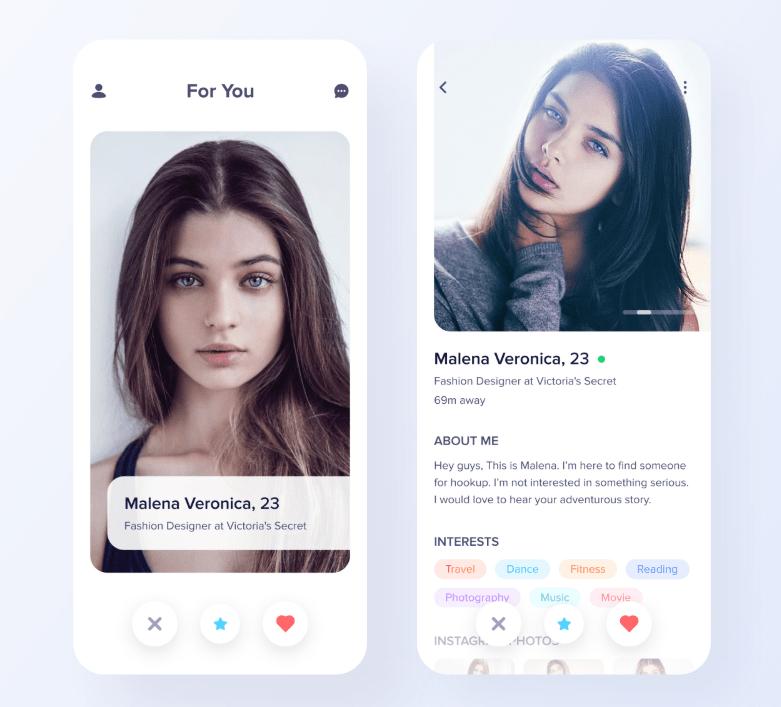 Minimal Dating Mobile App Design