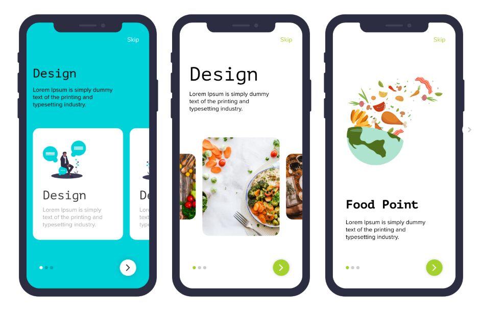 Mobile App Walkthrough Design For Adobe XD