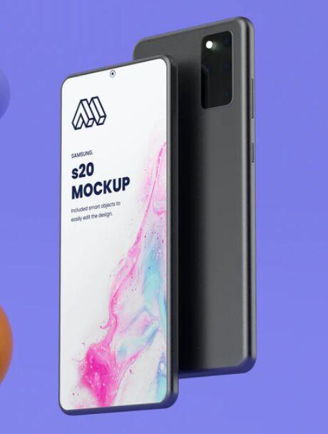 Samsung S20 PSD Mockup