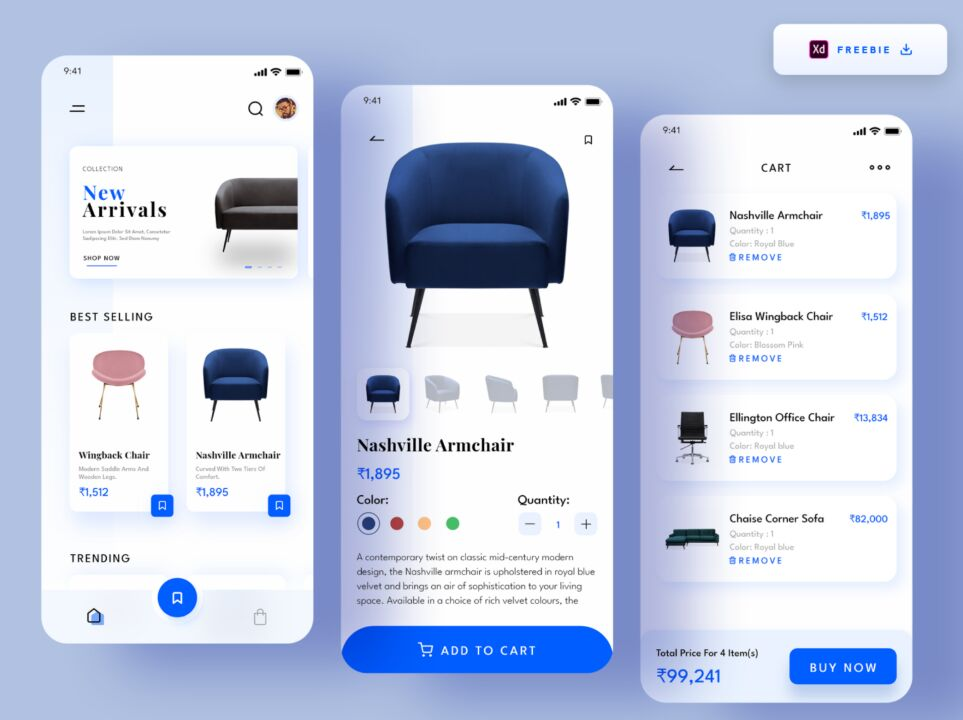Furniture E-commerce App design