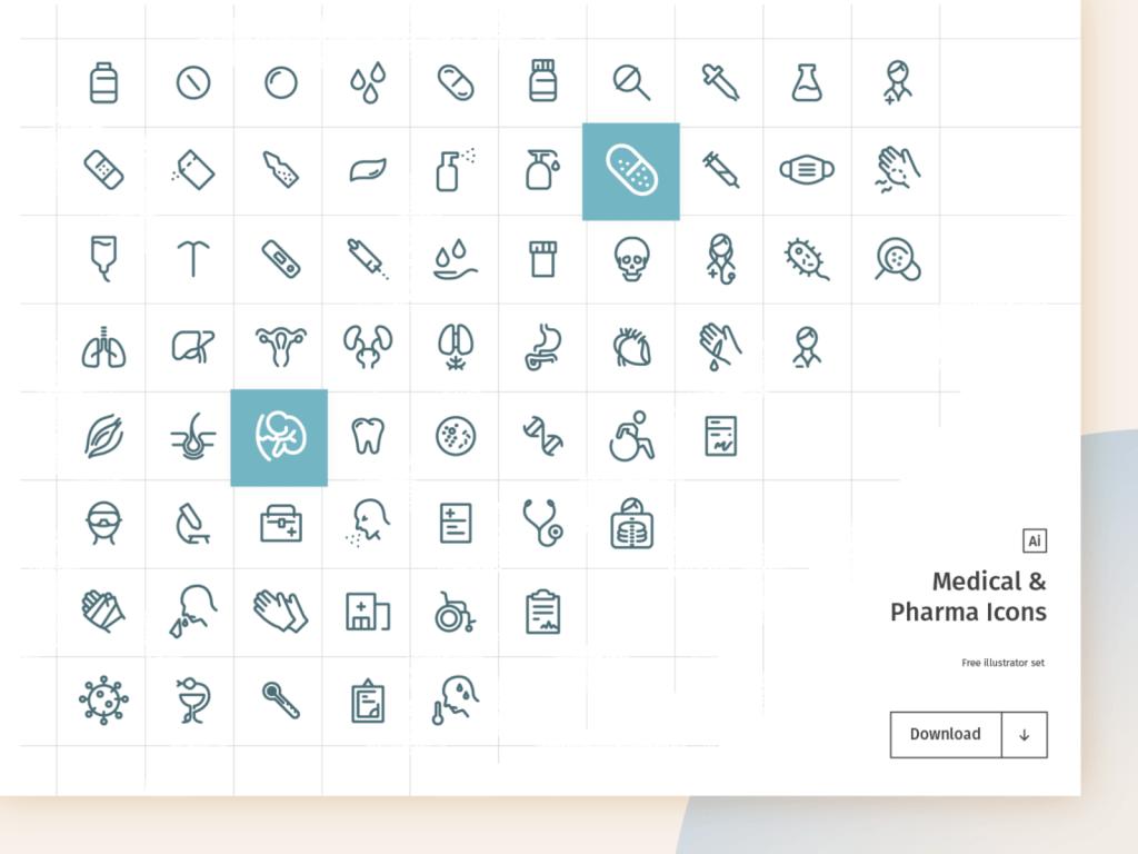 Medical & Pharma Free Icon Set