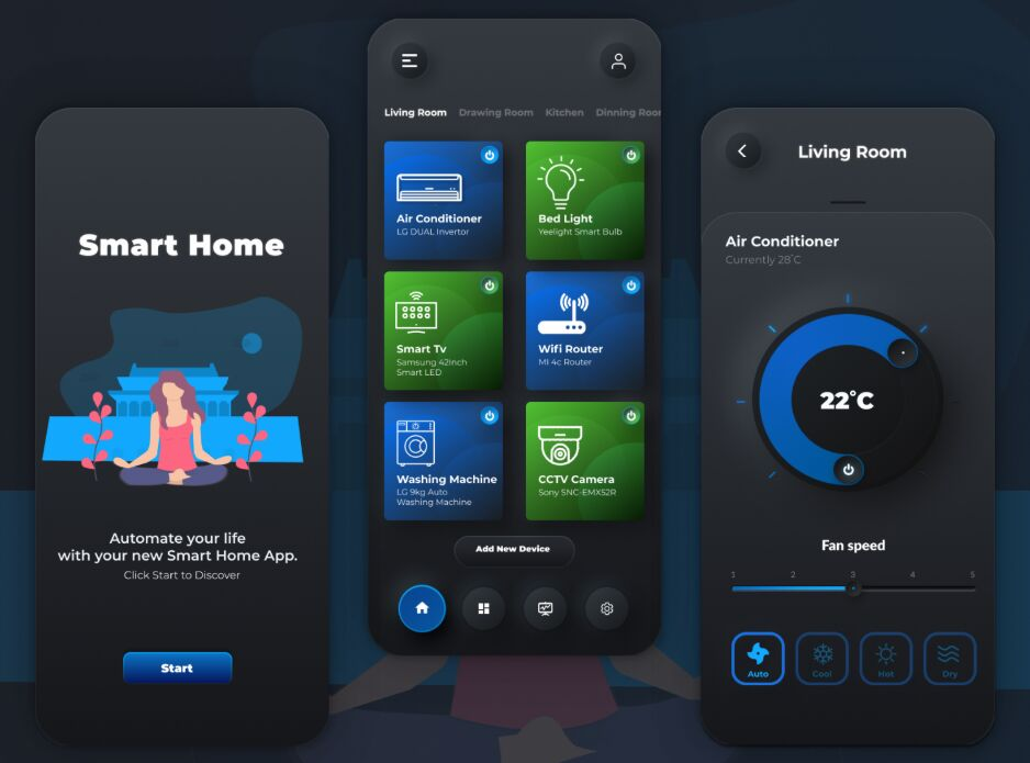 Neumorphic Design Smart Home Automation App