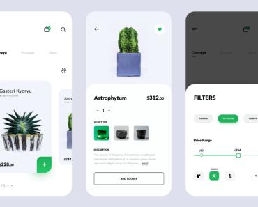 Plant Shop E-commerce App Design