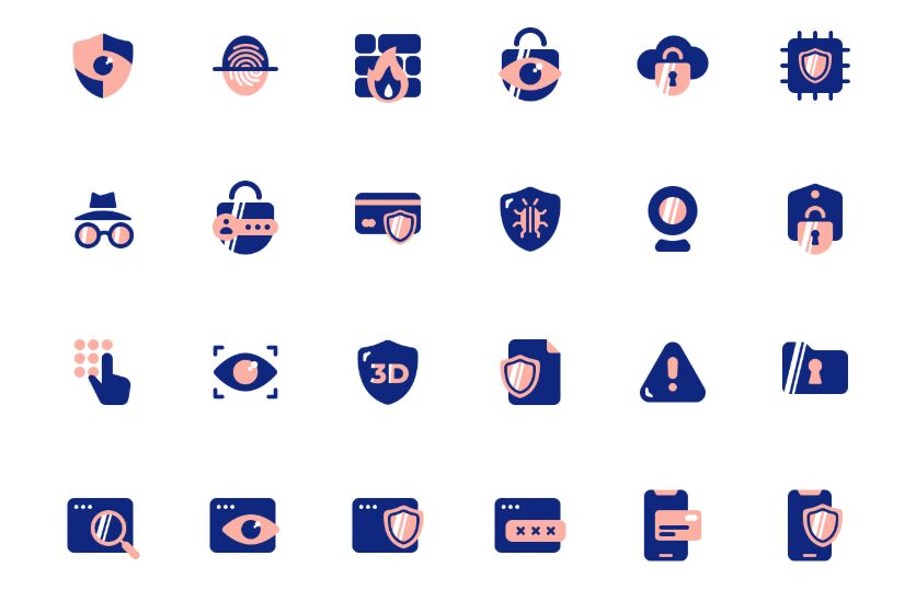 24 Security Icons For Figma App