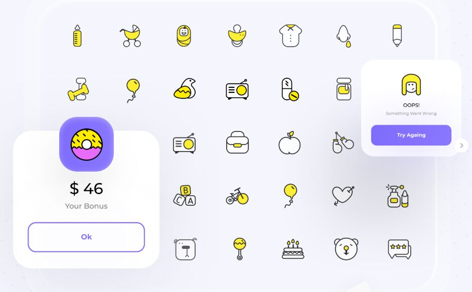56 Children Icons For Figma