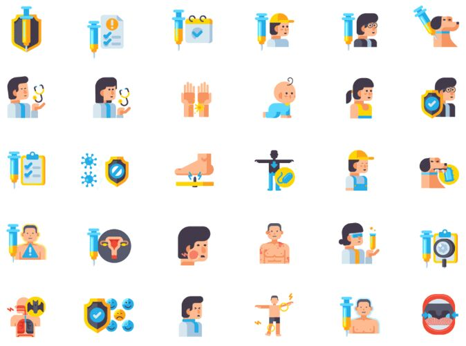 Animated Vaccine Icons