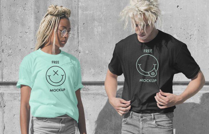 Fashion T-Shirts PSD Mockup