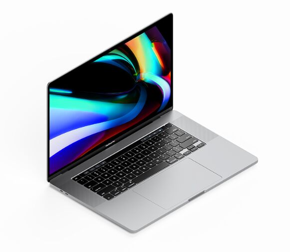 Isometric MacBook Pro 16 Inch Mockup