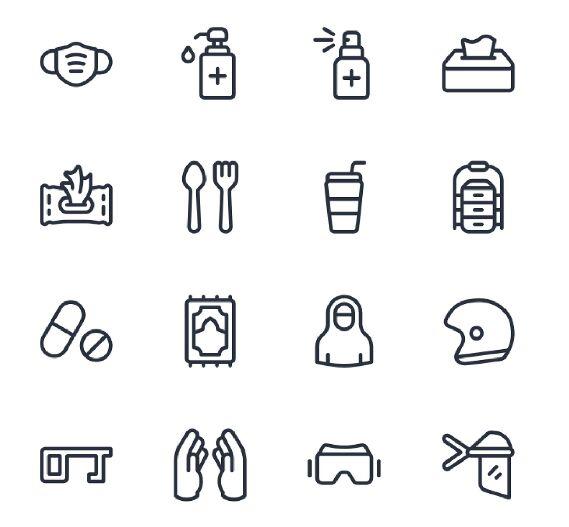 New Normal Starter Kit Icon Pack