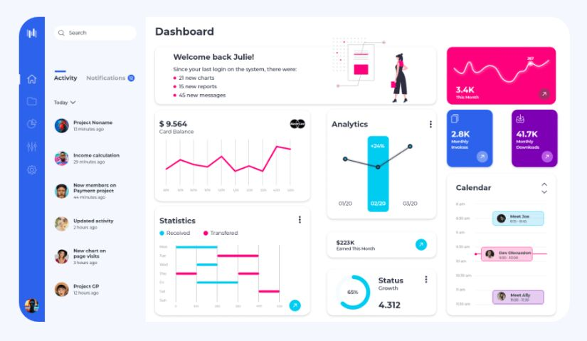 XdDash Free Dashboard UI Kit for Xd