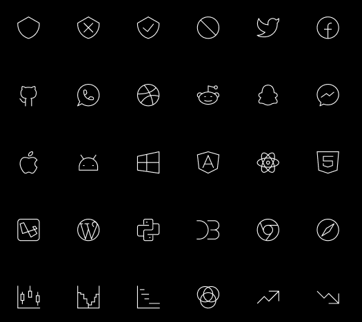 500+ Tiny Stroke Icons