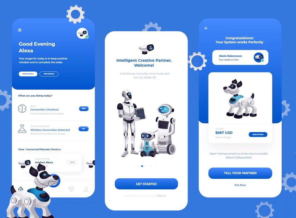 AI Remote App UI Design