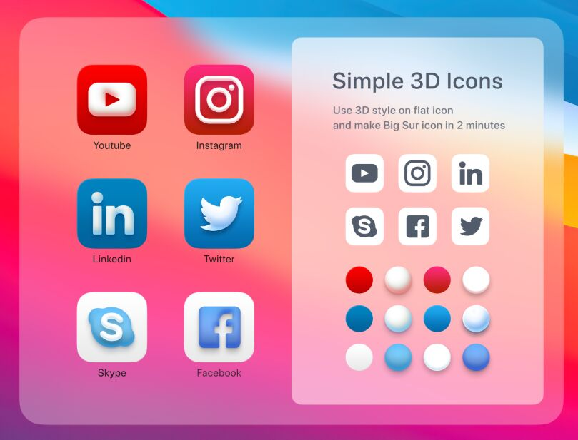Big Sur Style Social Icons In Figma