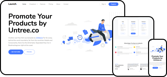 Launch Free HTML CSS Template