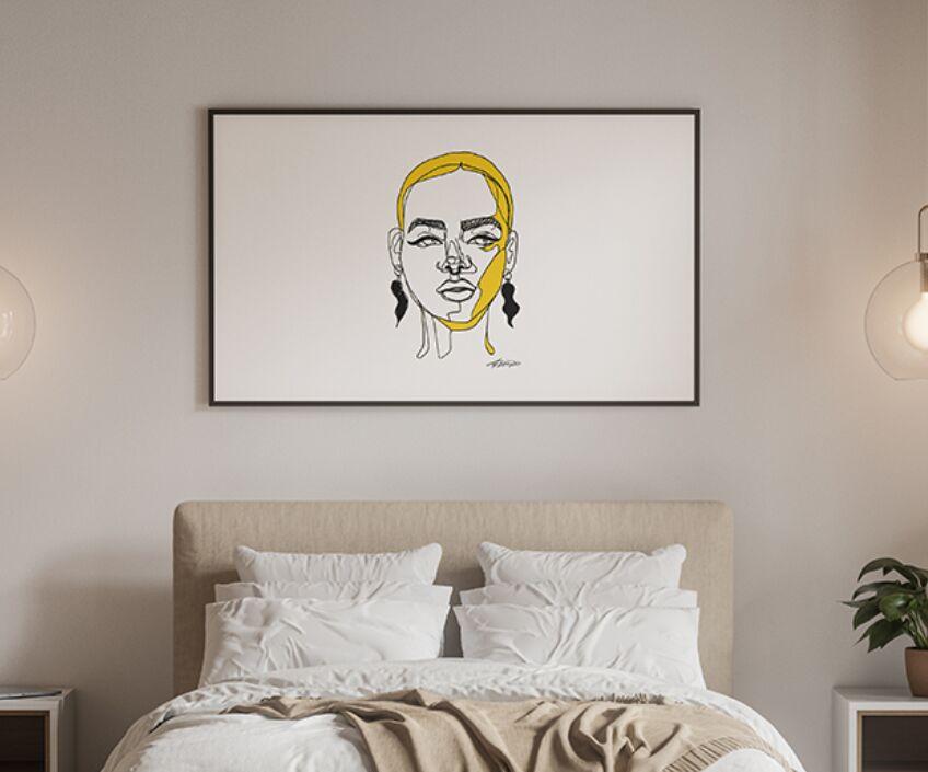 Modern Bedroom Poster Mockup