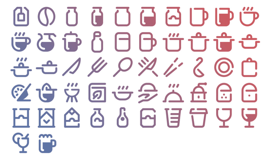 52 Free Tidee Kitchen icons