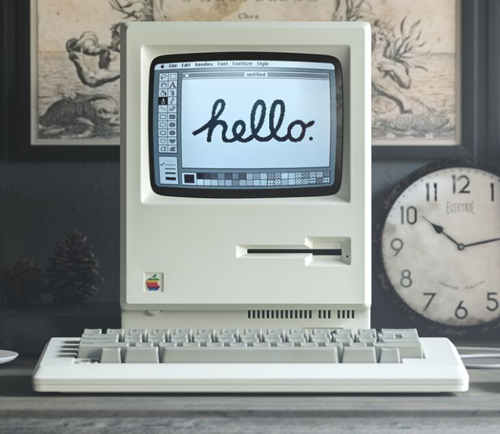 Apple Macintosh 1984 Mockup