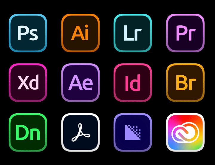 Creative Cloud Icons For Big Sur