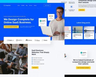 DesignJuice Sketch Landing Page Freebie