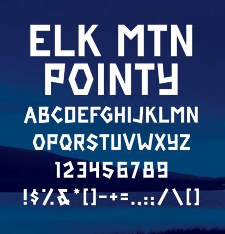 Elk Mtn Font