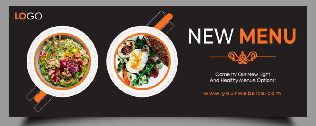 Food Facebook Cover Templates Vector