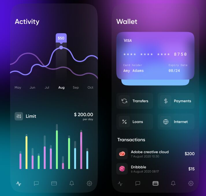 Mobile Banking App Figma Free