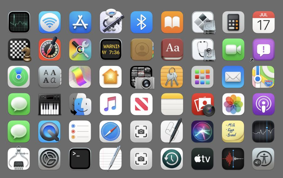 New Icons in macOS Big Sur