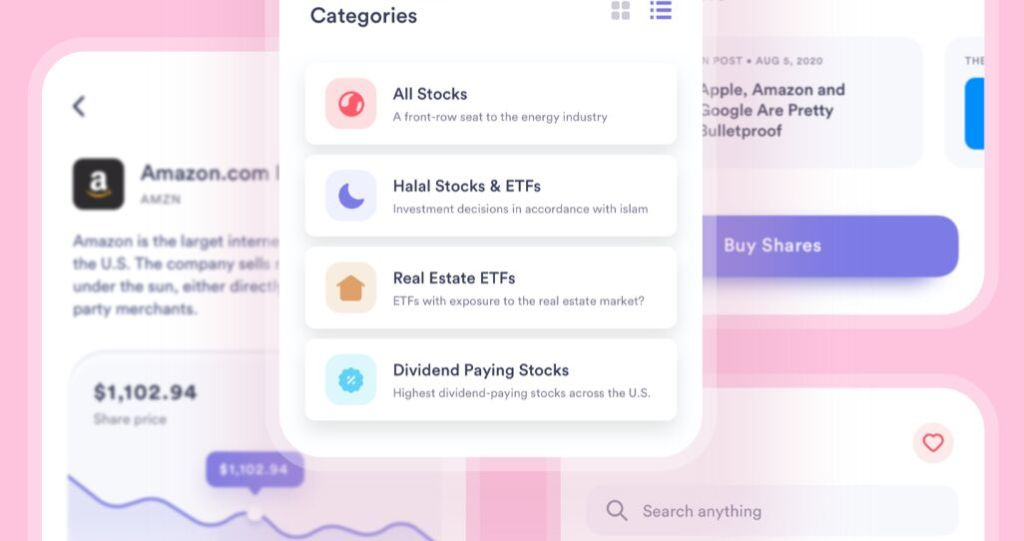 Stock Trader App Free UI Kit