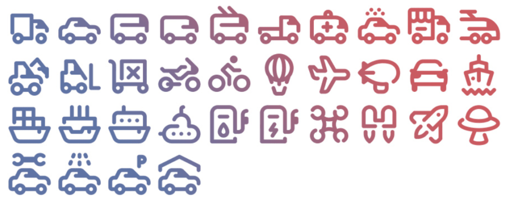 34 Free Tidee Transport icons