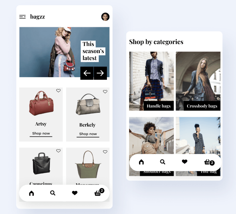 Bagzz Shopping App UI Kit